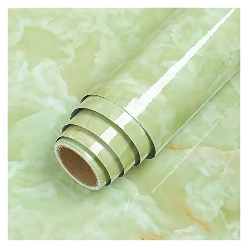 YEYU BH Papel de contacto de PVC resistente al agua, autoadhesivo, papel de vinilo, película decorativa para encimera, muebles de cocina, adhesivo negro (color: ágata verde, tamaño: 40 cm x 1 m)