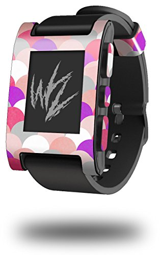 Brushed Circles Pink - Decal Style Skin fits original Pebble Smart Watch (WATCH SOLD SEPARATELY)