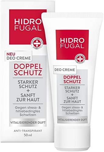 Hidrofugal Doppelschutz Deo Creme, Deodorant gegen hitze- und stressbedingtes Schwitzen, Antitranspirant mit vitalisierendem Duft und antibakteriellem Schutz