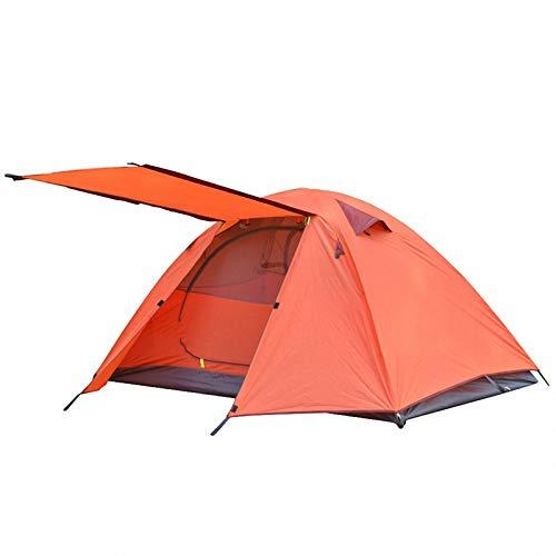 'N/A' Tienda de CampañA para 2-3 Personas, Postes de Aluminio para Viajes al Aire Libre, Doble Capa, Impermeable, Ligero, Tienda de Mochilero,Orange