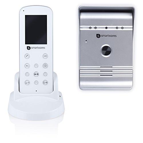 Smartwares VD36W Sistema de video portero, 4 alámbricos con 2 vías de comunicación de audio, Blanco