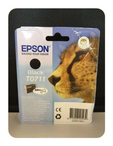 Original Drucker Patrone für Epson Stylus D78, D92 (T0711 Black) Tintenpatrone