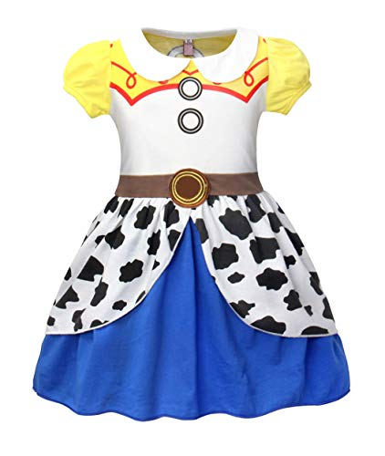 Cotrio Cosplay Costume West Dress Little Girls Outfit Clothing Children Kids Halloween Fancy Dresses Size 6 (5-6 Years, Short Sleeve, 120)