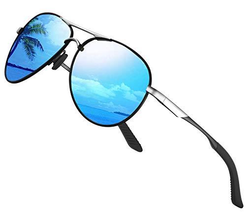 Gafas de sol polarizadas para hombre mujere metal Marco grande/Ciclismo Golf Conducción Pesca Escalada Verano Deportes al aire libre moda Gafas de sol (b1lue)