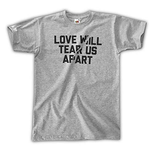 Outsider. Love Will Tear Us Apart T-Shirt Uomo Unisex - Grigia - L