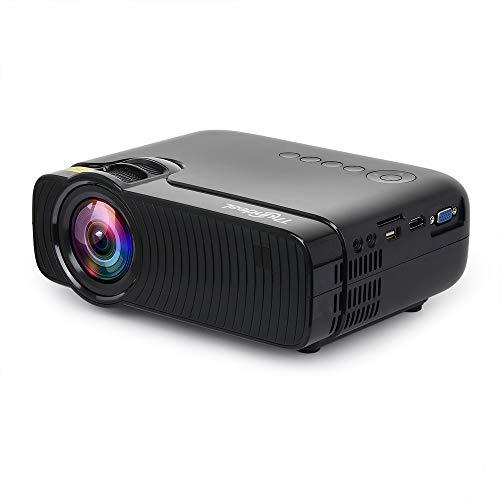 Proiettore Mini proiettore LED 1280 x 720 HD Proiettore video HD 3D da 2400 lumen per l'home entertainment Party and Game Birthday Party Office