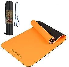 TOMSHOO Yogamat TPE Antislip Draagbare Opvouwbare Fitness Pilates Oefenmat met Schouderriem en Koffer 183 * 61 * 0.8 cm