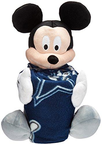 NFL Dallas Cowboys Co-Brand Disney Mickey Mouse Hugger & Fleece Throw Set, 40' x 50'