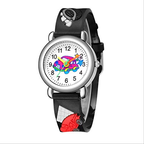 TIDRT Reloj De Cuarzo De Los Niños Lindo Patrón De Dibujos Animados Reloj Niño Cuarzo Analógico Reloj De Pulsera Reloj De La Muñeca Reloj De Cumpleaños Masculino