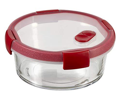 Curver Cook Recipiente de Vidrio, Transparente/Rojo, 1.2 L