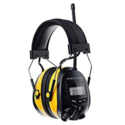 commercial PROTEAR headphones with digital AM-FM radio, hearing protection, electronic noise … radio work headphones