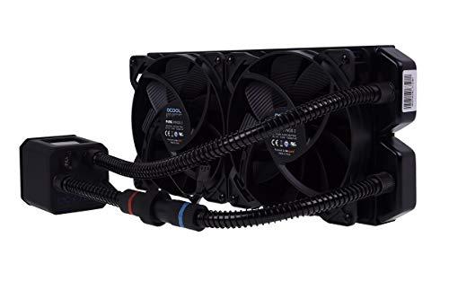 Alphacool 11287 Eisbaer 280 CPU - Black - All in One CPU-Wasserkühlung Sets und Systeme, 2x140mm Lüfter, Individuell über Schnellverschluss erweiterbar