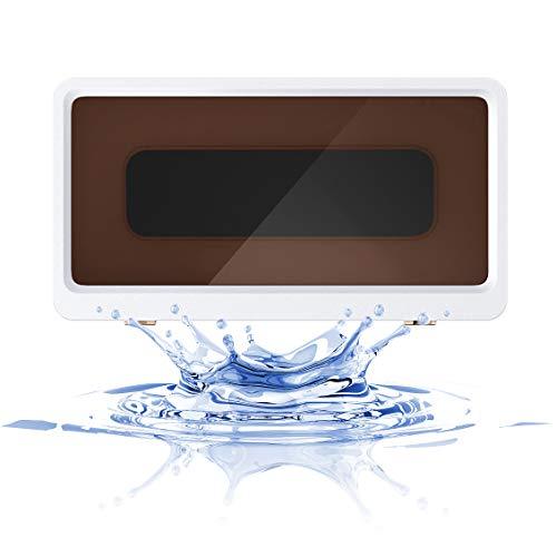 Wall Mount Phone Holder for Most Phones, Damage-Free Universal Dock for Bathroom Case Mount Shelf, Shower Glass Mirror, Shower Mount Storage Box Phone Holder (White)