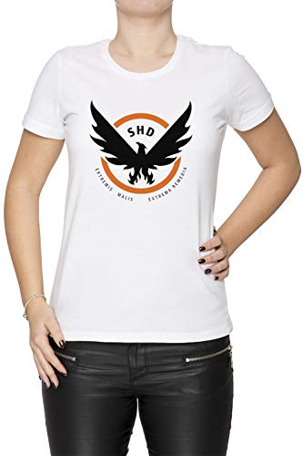 Erido The Division Femme T-Shirt Cou D'équipage Blanc Manches Courtes Taille XS Women's White T-Shirt X-Small Size XS