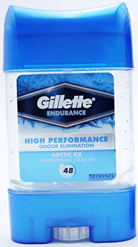 2 x Gillette Endurance Antiperspirant Clear Gel 70ml Arctic Ice