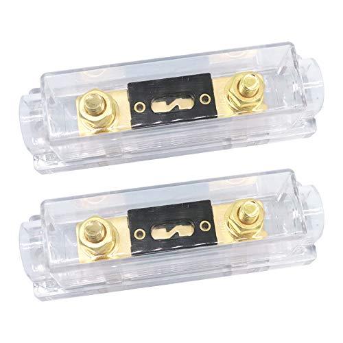 ZHITING 2 Stück ANL Sicherungshalter 300 Amp Vergoldete Sicherung 0/2/4 Gauge ANL Fuse für Auto Fahrzeuge Audio (300A)