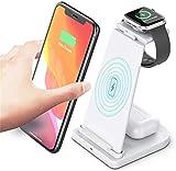 ZJWD Chargeur sans Fil, Station De Charge sans Fil Rapide, pour Iphone 12/11 / 11Pro Max/X/XS/XR/XS...