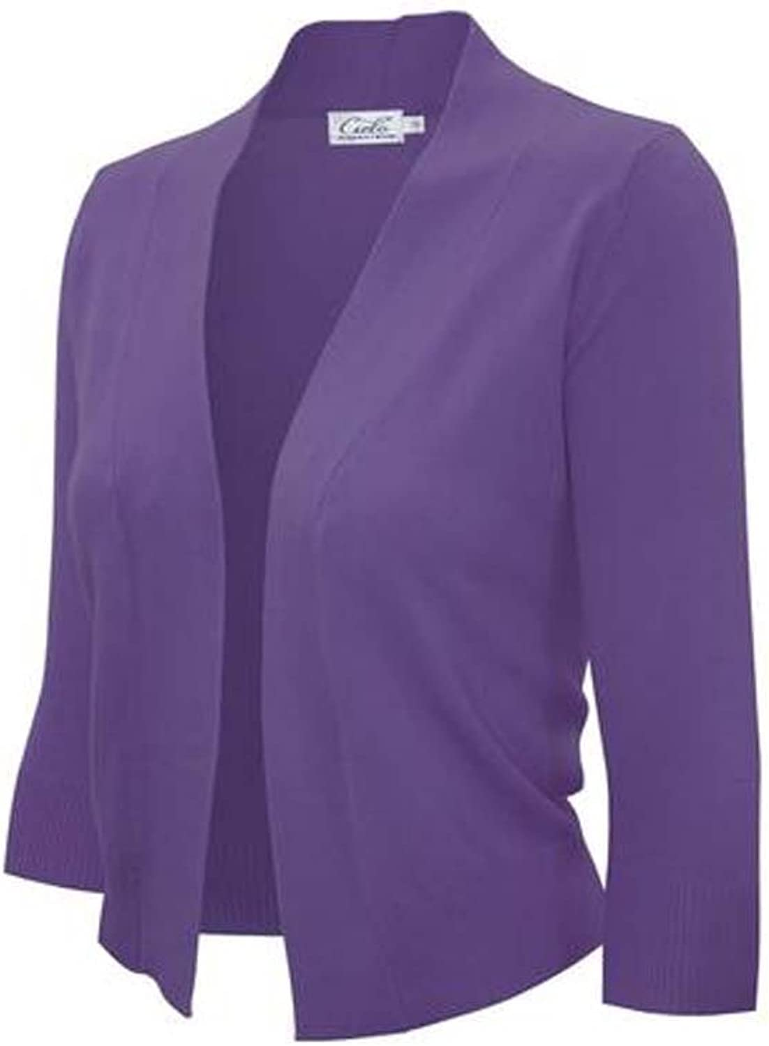 Enimay Bolero Cardigan Three Quarter Sleeve