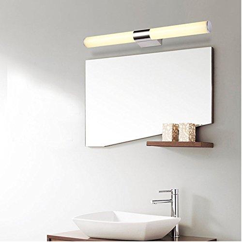 ELINKUME LED 8W Lampada da Specchio Bagno Parete 40 LED 2835 SMD Bianco Caldo AC90-265V Acciaio inox Acrilico