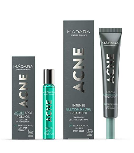 MÁDARA | ACNE SET | ACNE Traitement intensif pores & imperfections, 20 ml & ACNE-Roller Akut, 8 ml
