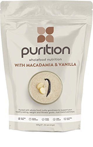Purition Macadamia & Vanilla Natural Protein Powder for Keto Diet Shakes and Meal Replacements Shakes with Only Natural Ingredients, 1 Bag (12 Servings)