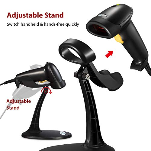 Esky USB Automatic Handheld Barcode Scanner/Reader with Free Adjustable Stand Photo #3
