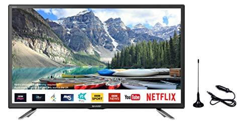 Sharp 24' Smart LED 12v/24v TV with Freeview Play, Satellite, Saorview PVR, LC-24CHG6132KFM