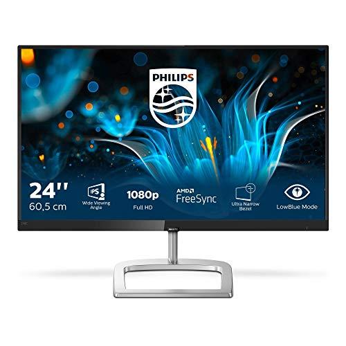 Philips 246E9QDSB/00 60 cm (23,8 Zoll) Monitor (VGA, DVI, HDMI, FHD, 5ms Reaktionszeit, 1920 x 1080) schwarz
