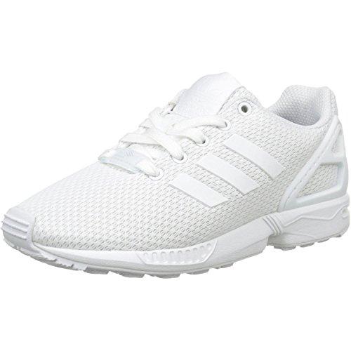 Adidas ZX Flux J, Zapatillas Unisex Adulto, Blanco (Footwear White/Footwear White/Footwear White 0), 37 1/3 EU