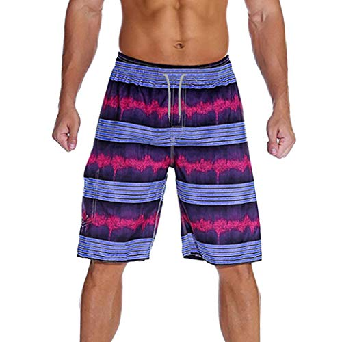 Lowest Price! Nacome Sport Swim Trunks Shorts for Men Fashion Splice Stripe Beach Work Casual Men Sh...