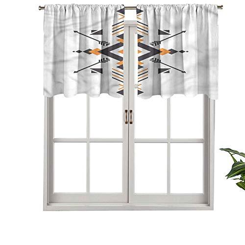 Hiiiman Cenefa opaca de alta calidad con bolsillo para barra, juego de 2, paneles opacos decorativos para el hogar de 137 x 91 cm, para dormitorio