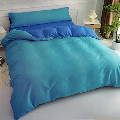Funda Nordica Cama 90 Azul - Juegos de Fundas Edredónes con 1 Funda de Almohada 45x110cm de Poliéster y Suave 150x220cm