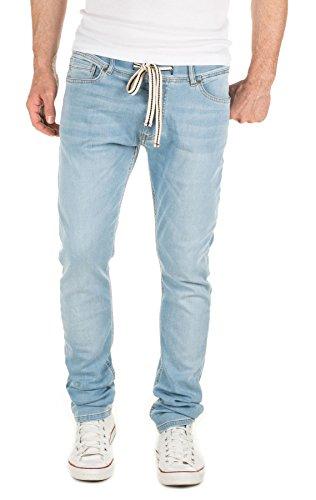 Yazubi Herren Sweathose in Jeansoptik Rick - Skinny Fit - Jogginghose in Jeans-Look, Blau (Blue Shadow 4020), W30/L34
