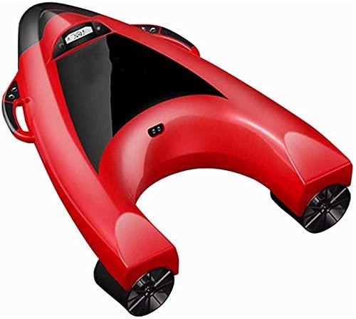 Bierglaks Scooter subacuático Tabla Flotante eléctrica Tabla de Surf con propulsión Hélice de Buceo Hélice de Piscina Juguete Recargable Rojo BJY969