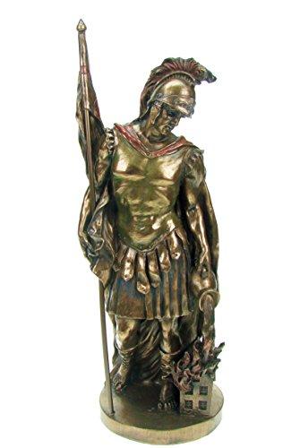 Unbekannt Heiliger Florian Figur bronziert Sammelfigur Schutzheiliger Feuerwehr Feuer