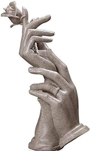 Escultura,Estatuas De Adorno Estatuillas Estatuas Estatua Abstractaesculturas De Animales para El Hogar Estatua Adornos De Rosas De Mano Gabinete De Televisión Decoraciones De Gabinetes De Vino