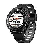 ZZJ Smart Watch, Full Touch Wasserdicht für mehr Sport-Modi Smart Watch Sports Clock-Puls-Monitor Smart Watch für IOS Android Phone,A