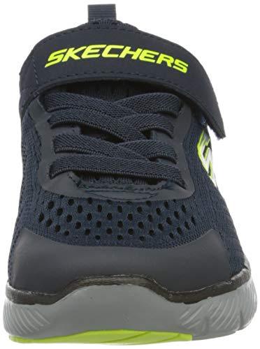 Skechers Flex Advantage 3.0, Zapatillas, Azul Marino Malla Lima Negro Ribete Nvbk, 33 EU