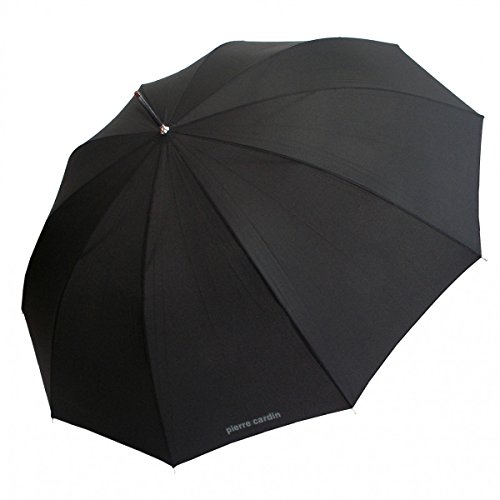 Pierre Cardin Stockschirm Regenschirm Herren schwarz