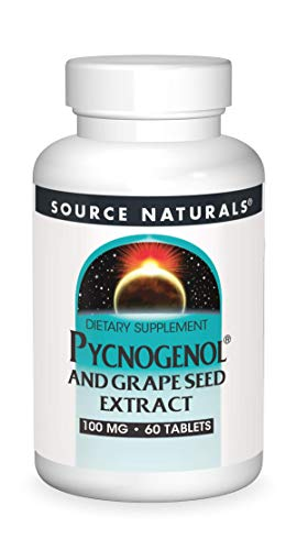Source Naturals Pycnogenol & Grape Seed Extract 100 mg Dietary Supplement - 60 Tablets