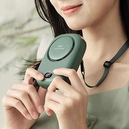 CFPacrobaticS-UK Ventilador De Cuello Colgante Manos Libres Portátil Mini Ventilador De Cuello Colgante Recargable Portátil con Cordón Ajustable para Viajes Blanco
