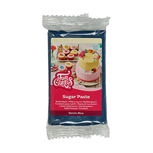 FunCakes Pasta di Zucchero Demin Blue: facile da usare, liscia,...