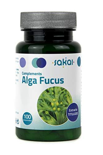 ALGA FUCUS SAKAI | 100 Compresse Vegan | Lo Iodio contenuto nel ALGA FUCUS è 100% naturale | Oltre al suo contenuto di Iodio, il ALGA FUCUS contiene fibre che migliorano il transito
