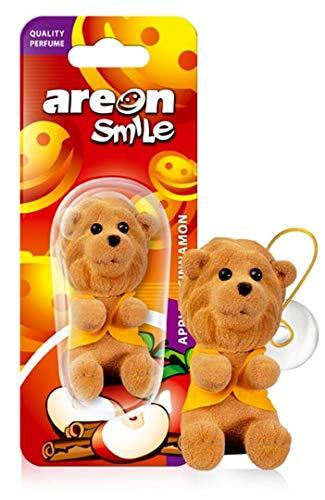 AREON Smile Ambientador Manzana Canela Coche Aire Divertido Mini Decorativo Rojo Diablo Colgar Colgante Retrovisor Moderno Muñeco Grasioso 3D Olor (Apple and Cinnamon Pack de 1)