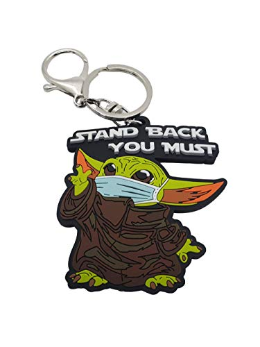 Cute Stand Back Keychain Funny PVC Rubber Baby Alien Durable Great Gift For Fans
