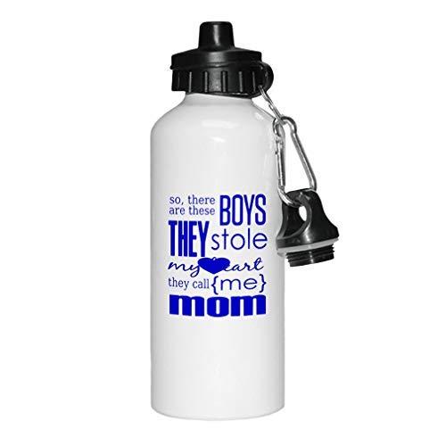 GFGKKGJFD - Botella de agua deportiva de aluminio, color blanco