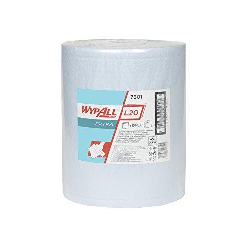 WYPALL* L20 Extra+ Paños en Bobina 7301 - 1 rollo x 500 paños de color azul y 2 capas