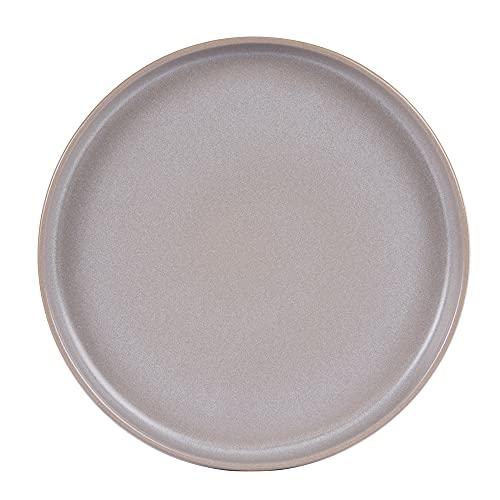 Table Passion - Plato llano 26 cm uno gris reactivo (lote de 6)