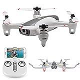 Drone con cámara HD 1080P para Adultos y niños, Quadcopter Plegable con Video en Vivo FPV Gran Angular, trayectoria de Vuelo, Control de Aplicaciones, Flujo óptico, retención de altitud y ba