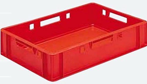 Euro - Fleisch - Kiste E1 / E2 / E3 (E1 rot (40x60x12.5cm))
